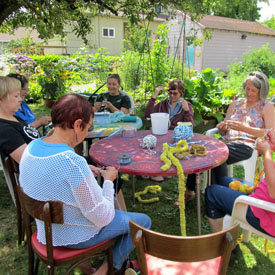 collaborative crochet workshop